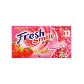 آدامس نواری توت فرنگی بدون شکر فرش اسمایل 7 عددیFresh Smile Strawberry chewing gum without sugar
