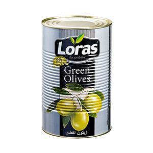 زیتون سبز لوراس ترکیه 2500 گرمLoras green olive 2500 g
