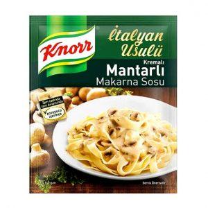سس قارچ و خامه ماکارونی کنور ترکیه ۵۲ گرمKnorr Mushroom sauce and cream of pasta, 52 grams