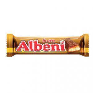 شکلات آلبنی بیسکویتی و لایه کاراملAlbeni Biscuit chocolate and caramel layer